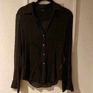 Theory chocolate blouse size P